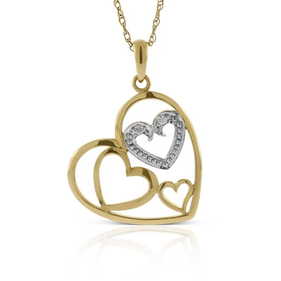 Captured Heart Diamond Pendant 14K