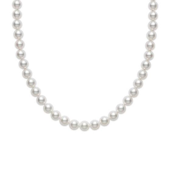 "Mikimoto A Akoya Cultured Pearl Strand Choker Necklace 18K, 16"""