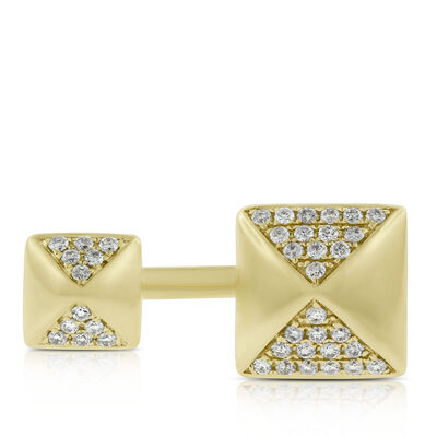 Double Pyramid Diamond Ring 14K