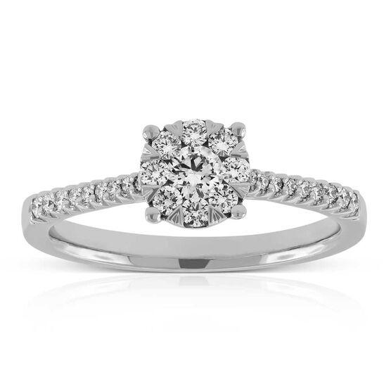 Love Eternal Diamond Engagement Ring 14K