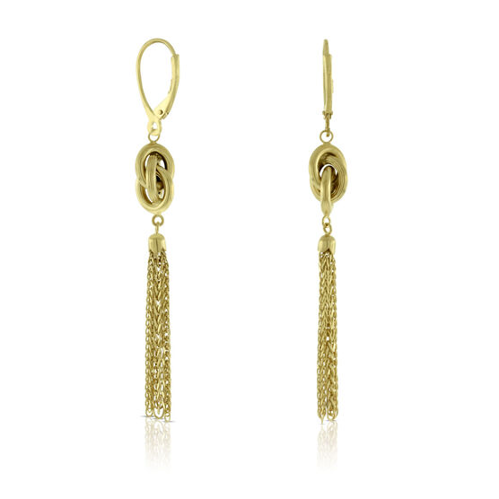 Tassel & Knot Earrings 14K