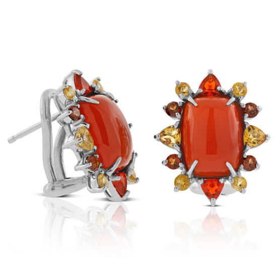 Lisa Bridge Carnelian Gemstone Earrings