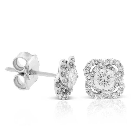 Signature Forevermark Diamond Flower Stud Earrings 18K