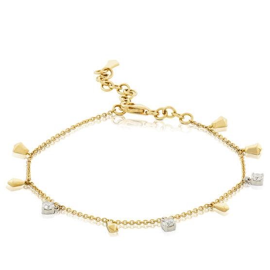 Jade Trau for Signature Forevermark Diamond Dangle Bracelet 18K