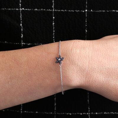Lisa Bridge Sapphire & White Topaz Starfish Bracelet
