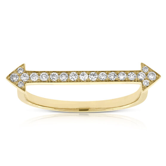 Straight Arrow Diamond Ring 14K