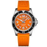Breitling Superocean Automatic 36 Orange Rubber Watch, 36mm