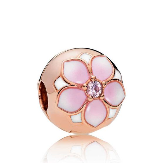 Pandora Rose™ Magnolia Bloom Crystal & Enamel Clip