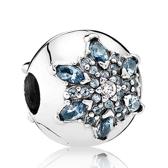 PANDORA Crystalized Snowflake Clip, Crystal & CZ
