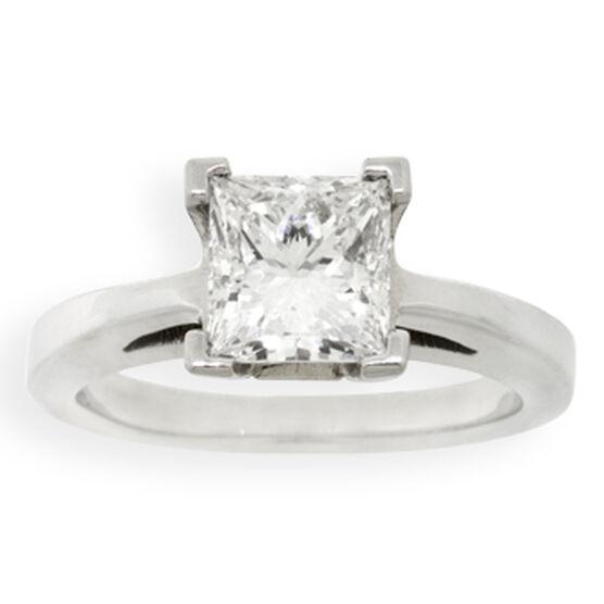 Princess Cut Diamond Solitaire Ring 14K, 2 ct.