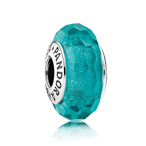 Pandora Teal Shimmer Glass Charm 791655 Ben Bridge Jeweler