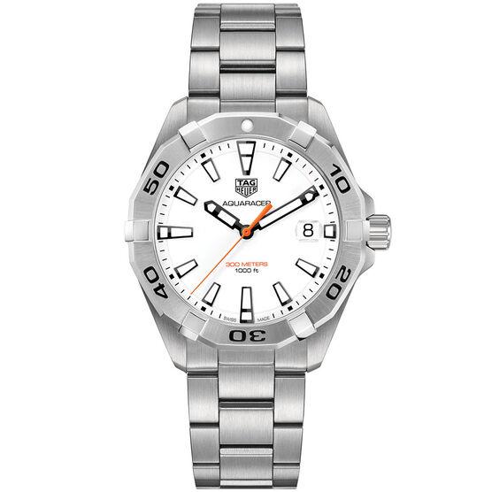 TAG Heuer Aquaracer White Dial Quartz Watch, 41mm