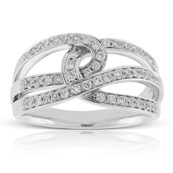 Crossover Diamond Ring 14K