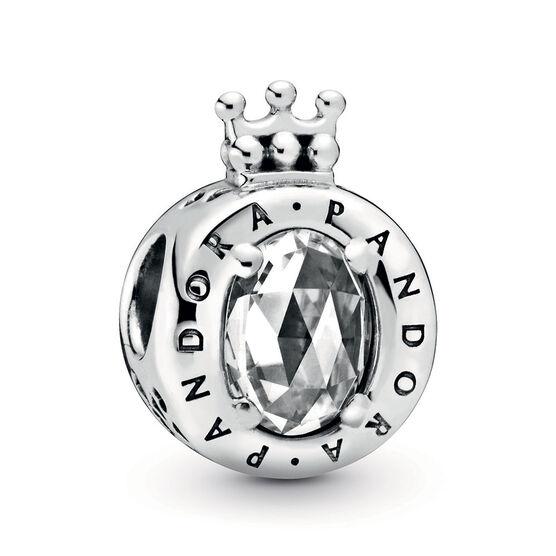 Pandora Clear Sparkling Pandora Crown O CZ Charm