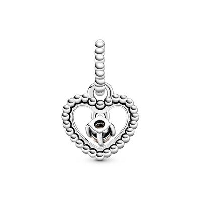 Pandora Purely Pandora Misty Rose Crystal Beaded Heart Dangle Charm