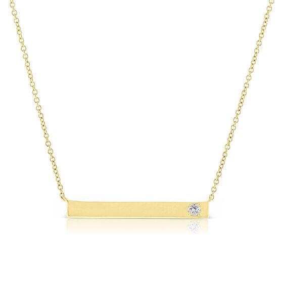 Ikuma Canadian Diamond Pendant Bar 14K