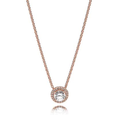 Pandora pendant with necklace ben bridge jeweler pandora rose classic elegance cz necklace mozeypictures Image collections
