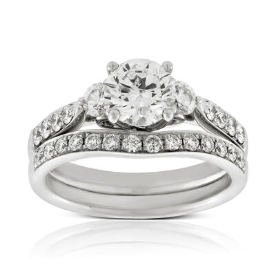 a7083fe92549 Three Stone Engagement Rings