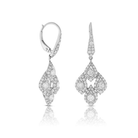 Chandelier Diamond Earrings 14K