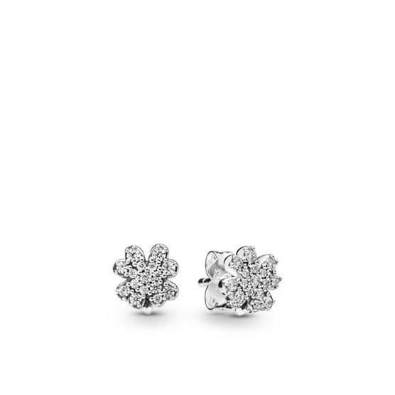 Pandora Radiant Clover CZ Stud Earrings