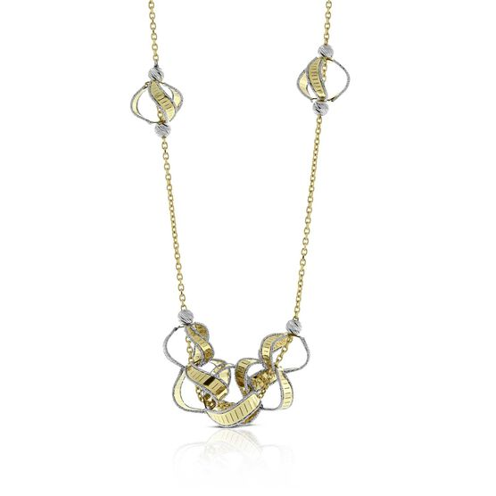 Toscano Circles Necklace 14K