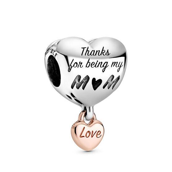 Pandora Love You Mom Heart Charm