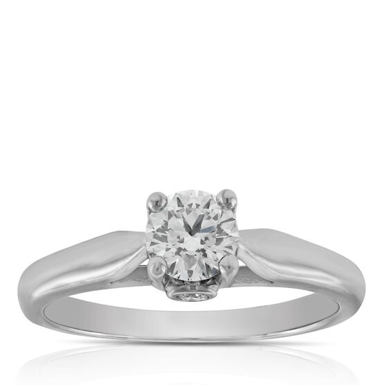 Ideal Cut Ikuma Canadian Diamond Solitaire Ring 14K, 1/2 ct.