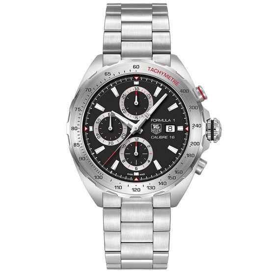 TAG Heuer Formula 1 Calibre 16 Automatic Mens Black Steel Chronograph Watch