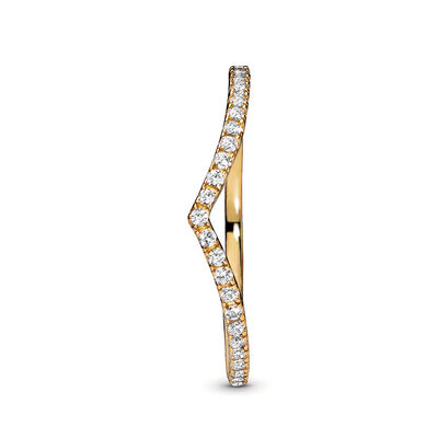 Pandora Shine™ Sparkling Wishbone CZ Ring