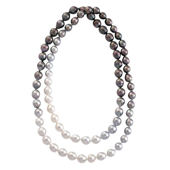 Ombre Cultured South Sea & Tahitian Pearl Strand, 36""