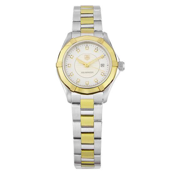 Pre-Owned TAG Heuer Aquaracer Diamond Watch, 27mm, 5N Rose & Steel