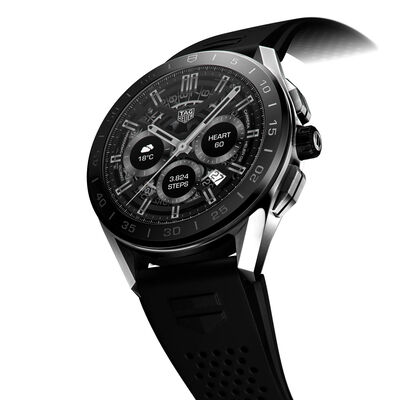TAG Heuer Connected Mens Rubber Smartwatch