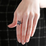 Lisa Bridge Sapphire & White Topaz Starfish Ring