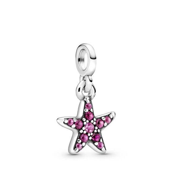 Pandora Me My Pink Starfish Synthetic Sapphire Charm