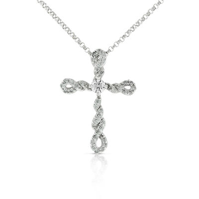 Cross necklaces and pendants ben bridge jeweler ikuma canadian diamond cross pendant 14k aloadofball Choice Image