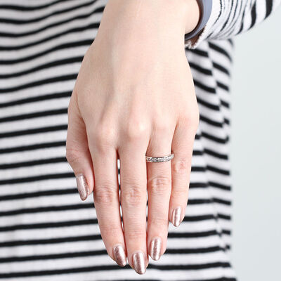 Channel Set Diamond Ring in Platinum, 1 ctw.