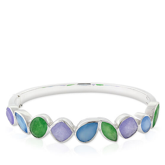 Lisa Bridge Chalcedony & Agate Bangle Bracelet