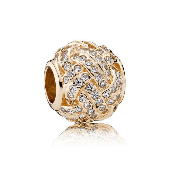PANDORA Sparkling Love Knot Charm 14K