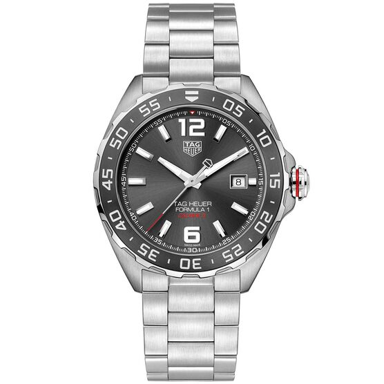 TAG Heuer Formula 1 Calibre 5 Automatic Mens Grey Steel Chronograph Watch