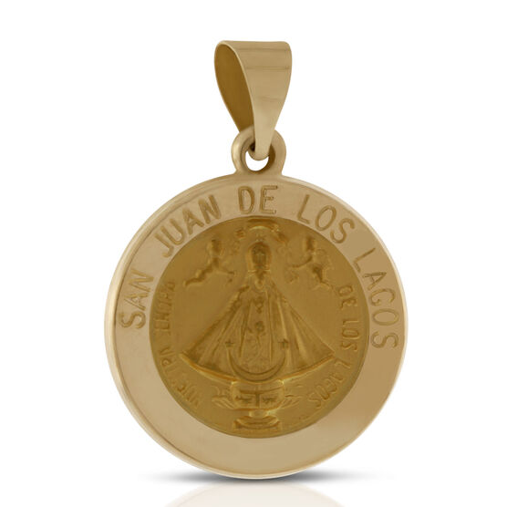 San Juan de Los Lagos Medal Pendant 14K