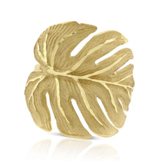Toscano Palm Leaf Ring 14K