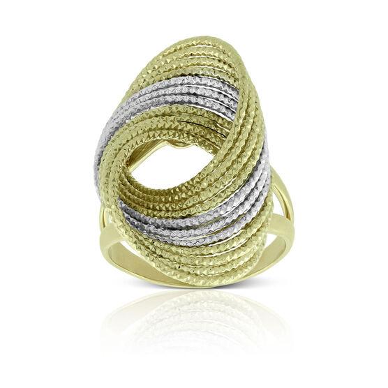 Toscano Diamond Cut Twisted Wire Ring 14K