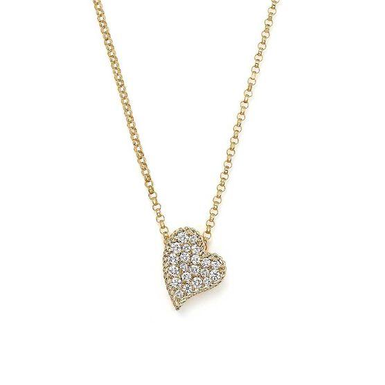 Roberto Coin Princess Diamond Heart Necklace 18K