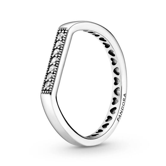 Pandora Sparkling CZ Bar Stacking Ring