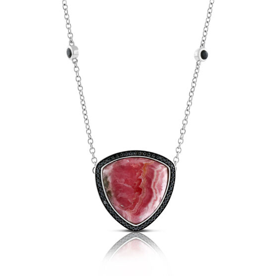Lisa Bridge Rhodochrosite & Black Sapphire Necklace