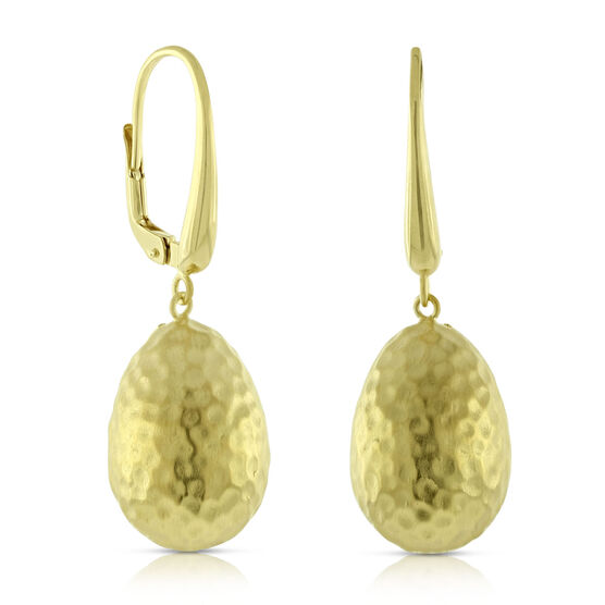 Toscano Hammered Bead Earrings 14K