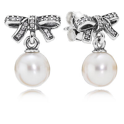 PANDORA Delicate Sentiments Pearl Earrings