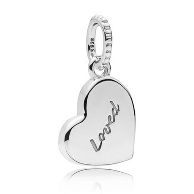PANDORA Asymmetric Heart of Love Enamel Charm