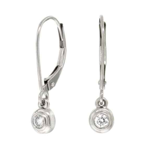 bezel diamond set main earrings