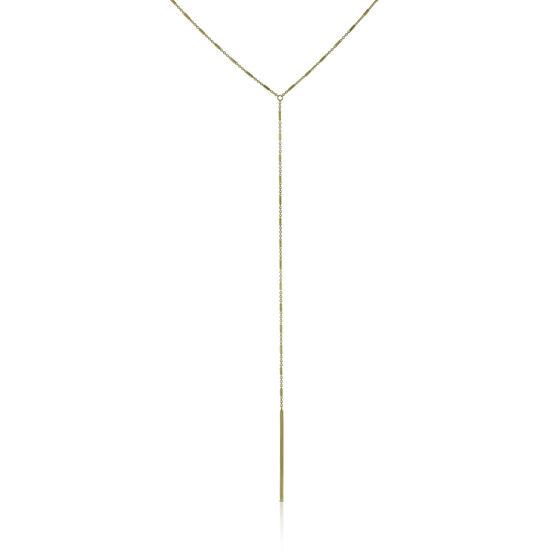 Drop 'Y' Necklace 14K